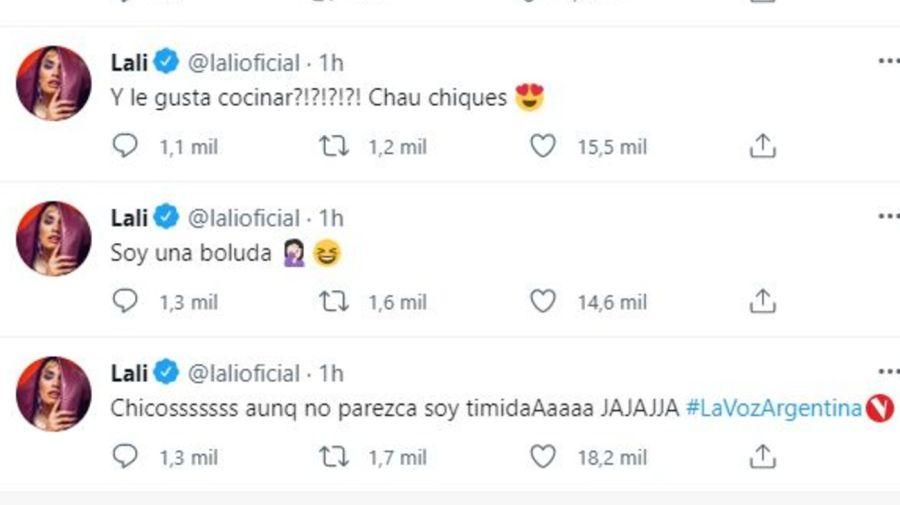 Reaccion de Lali Esposito al ver a Facundo en La Voz Argentina