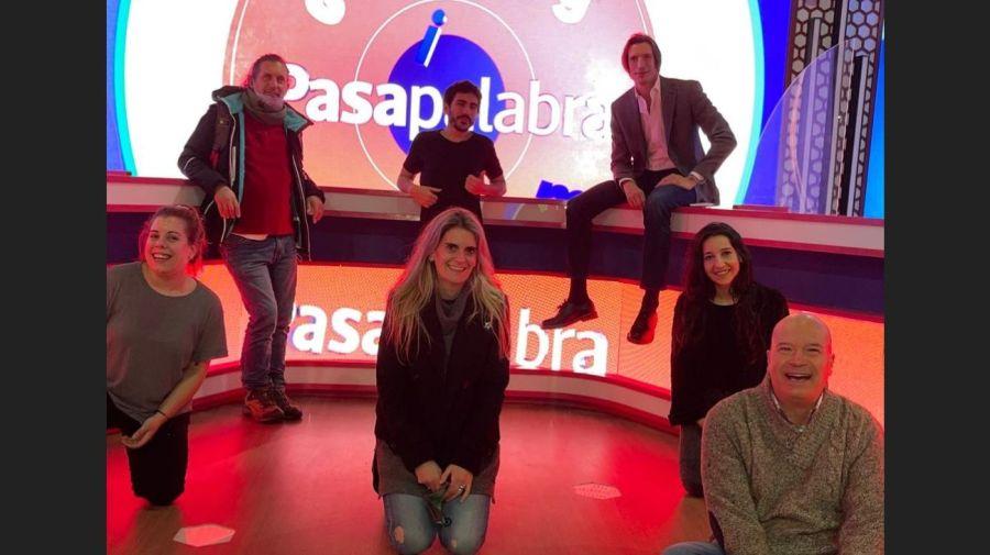 El equipo de produccion de Pasapalabra, Iva de Pineda y Brian