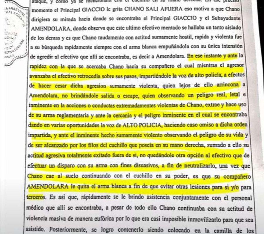 Nuevas revelaciones del caso Chano