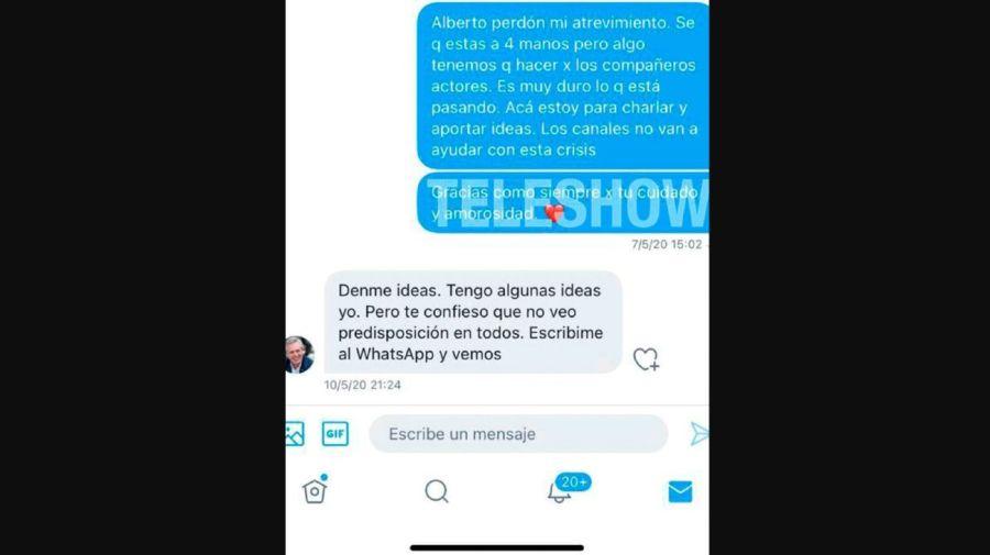 Mensaje Florencia Peña para Alberto Fernandez