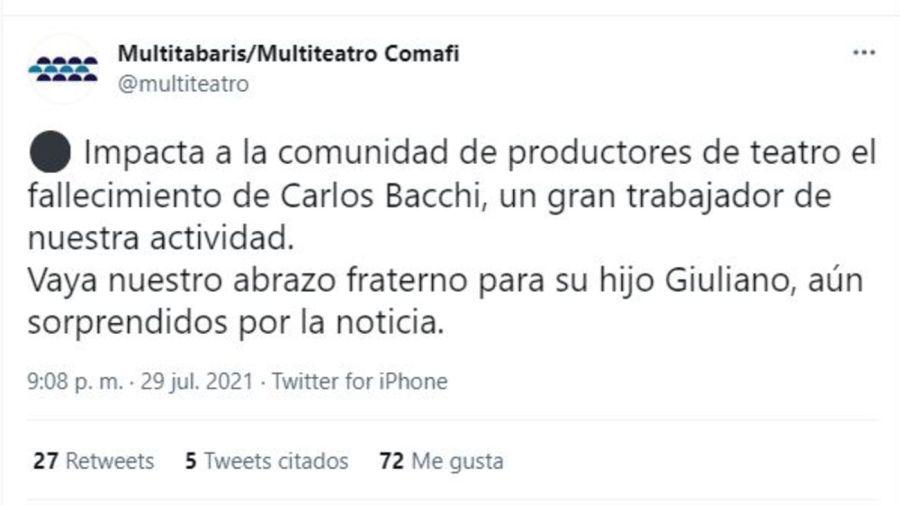Muerte Carlos Bacchi