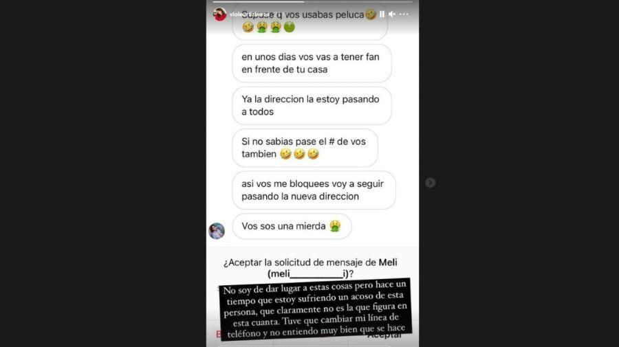 Violeta Urtizberea amenazas