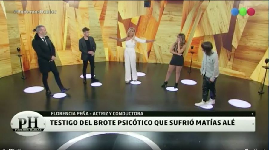 Flor Peña reveló que fue testigo de un brote psicótico deMatíasAle