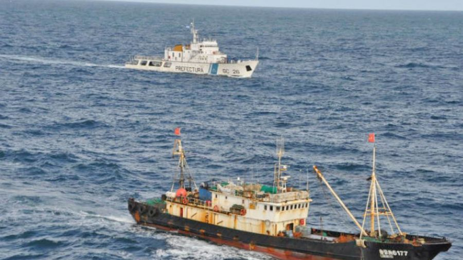 illegal fishing vessels exclusion zone argentina