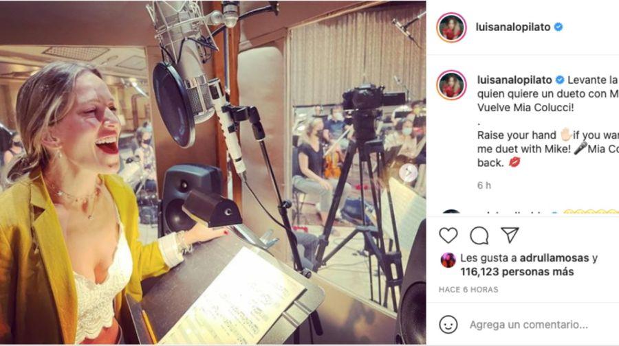Luisana Lopilato y MichaelBubléestán preparando un dueto