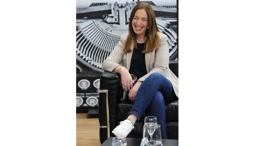 María Eugenia Vidal, en la entrevista con Jorge Fontevecchia.