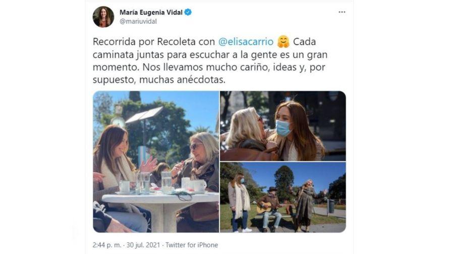 Maria Eugenia Vidal y Lilita Carrio