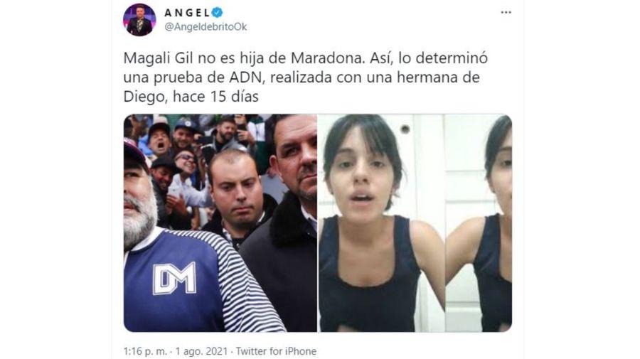 Resultado ADN Magali Gil