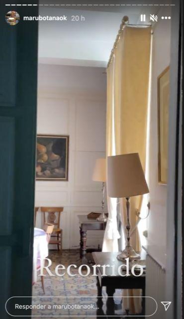 Maru Botana mostró imágenes del castillo francés donde quedó varada