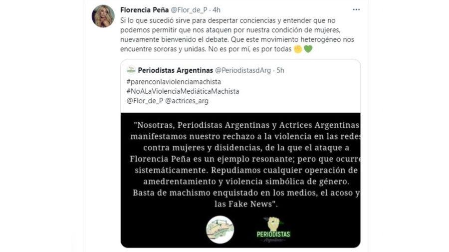 Mensaje actrices y periodistas argentinas por Florencia Pena