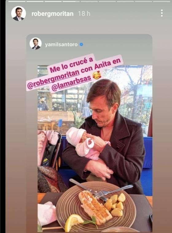 Roberto García Moritán compartió un tierno video de Ana a días de su nacimiento