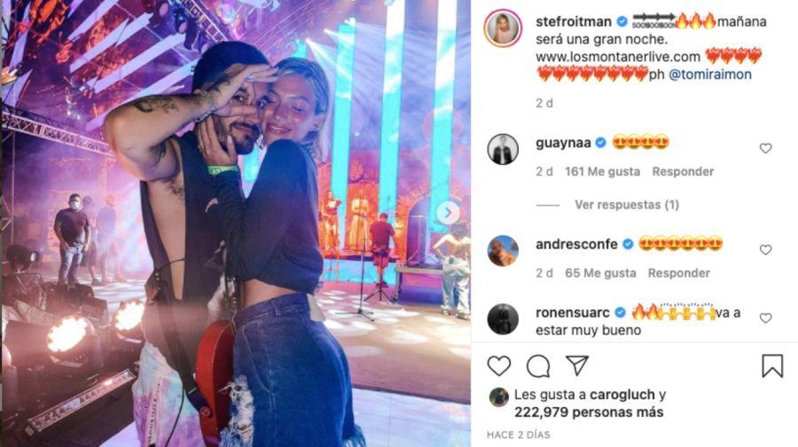 StefiRoitmanmostró la emoción durante el show de los Montaner enRepúblicaDominicana