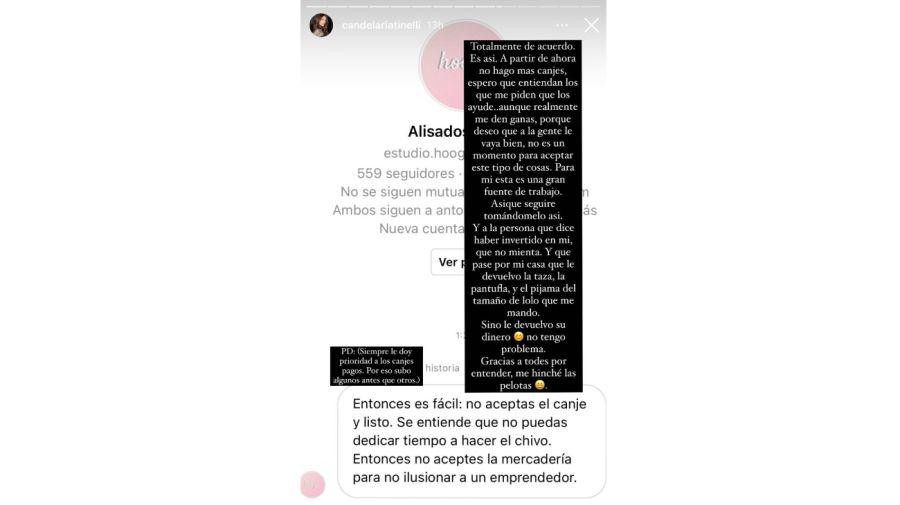 Cande Tinelli Instagram 0803