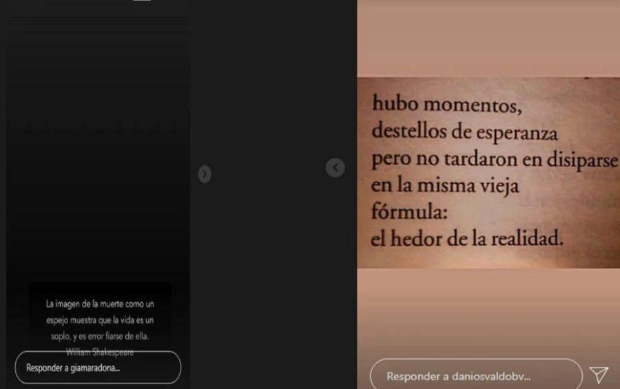 La decisión de Gianinna Maradona y el mensaje de Daniel Osvaldo en medio de la crisis