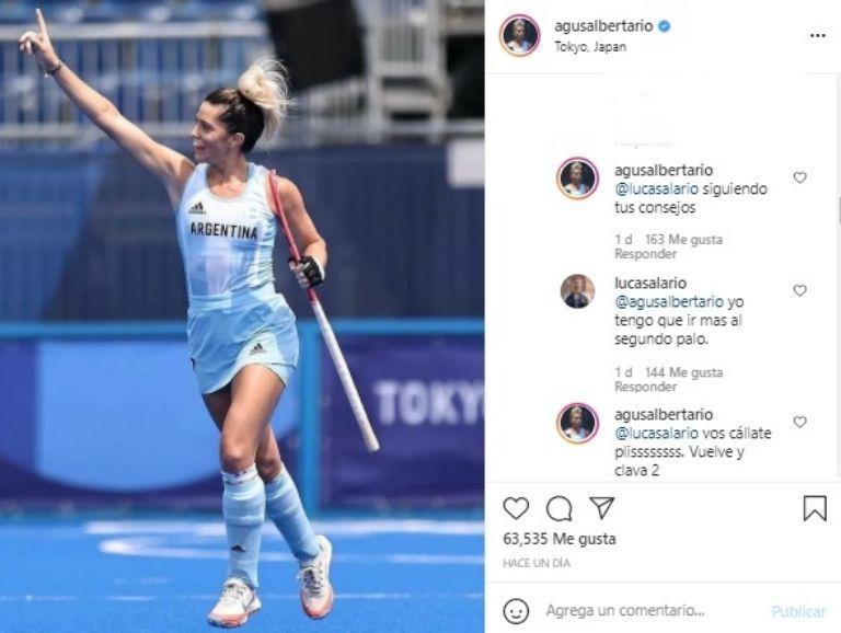 Los mensajes entre Lucas Alario y Agustina Albertario que confirmarían su relación