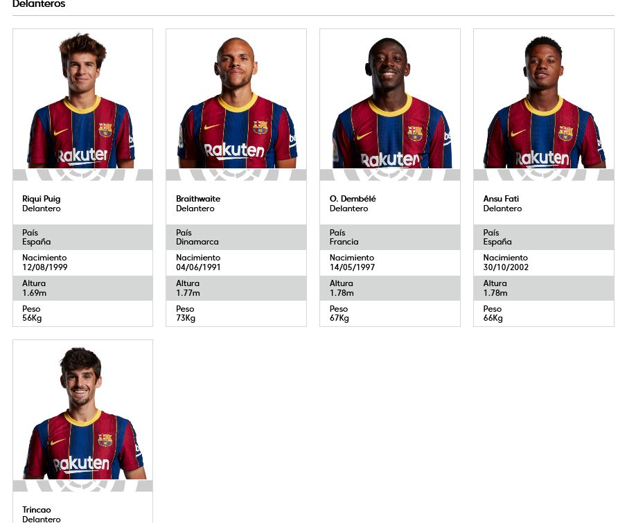 Delanteros del Barcelona