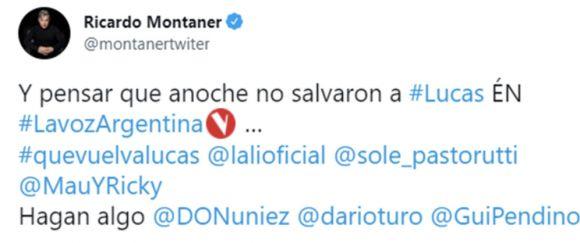 El impactante pedido de Ricardo Montaner a Telefe para que vuelva un participante de
