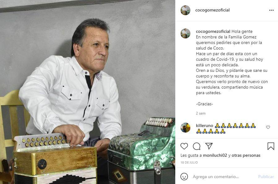 """Murió el folclorista """"Coco"""" Gómez"""