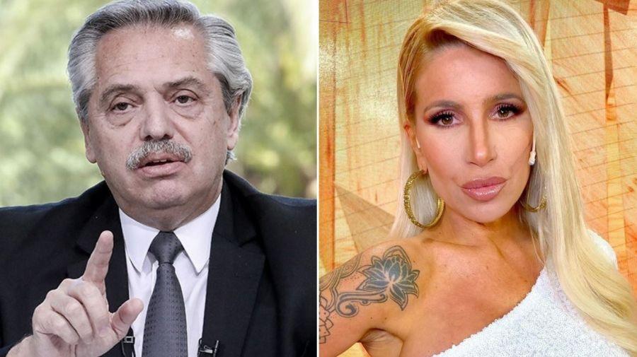 Alberto Fernandez y Florencia Peña