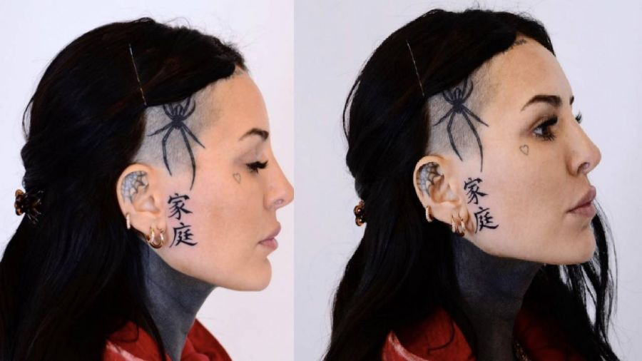 Cande Tinelli se hizo llamativo tatuaje en la cara luego de que a Soledad Aquino recibiera el alta