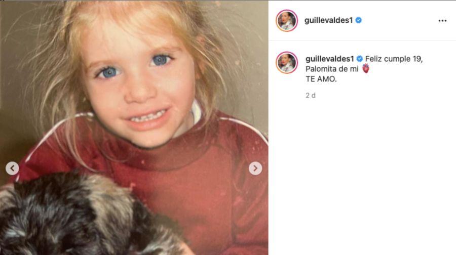 En el cumpleaños de su hija Paloma, Guillermina Valdés le dedicó un tierno posteo