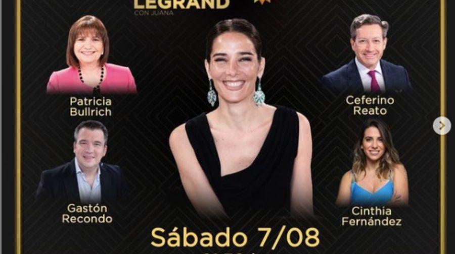 Estos serán los invitados en los programas de Juana Viale y AndyKusnetzoff
