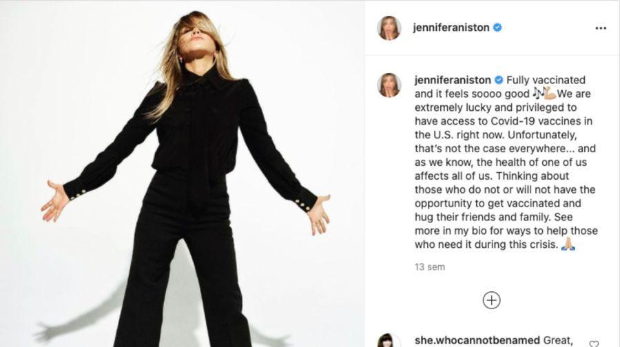 JenniferAnistoncortó relación con quienes se niegan a recibir la vacuna contra el coronavirus