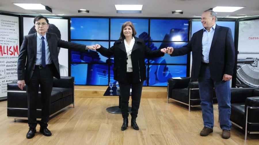 Patricia Bullrich y Sergio Berni, en la entrevista con Jorge Fontevecchia.