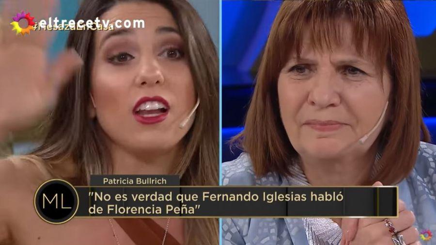Cinthia Fernandez y Patricia Bullrich