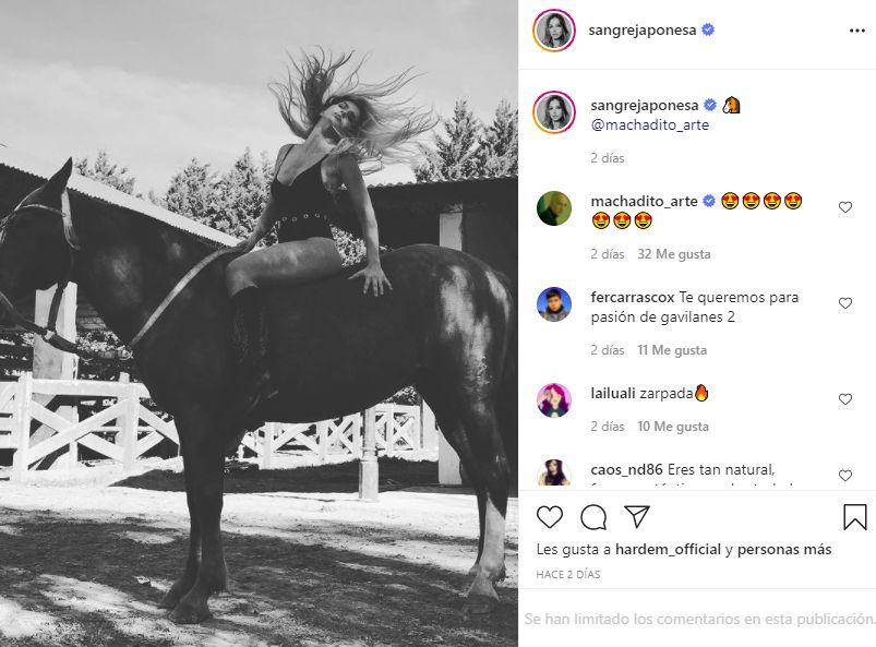 La foto de la China Suárez cabalgando que causó sensación en las redes