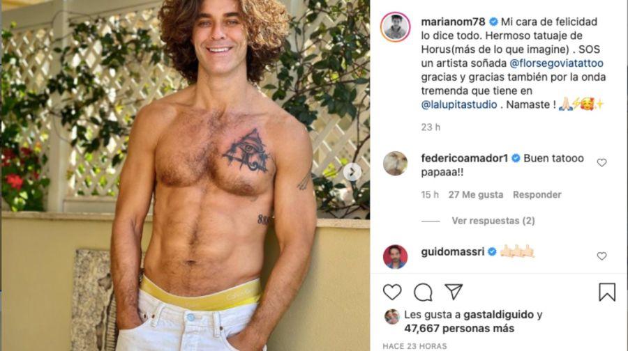 MarianoMartínezcausó furor en redes sociales con su nuevo tatuaje
