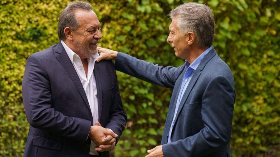 Macri con Gustavo Santos 20210809
