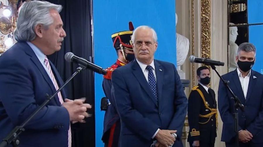 Alberto Fernández ministros Jorge Taiana Juan Zabaleta g_20210810