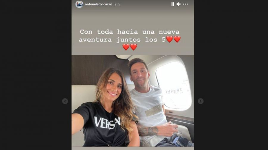 Antonela Roccuzzo y Lionel Messi