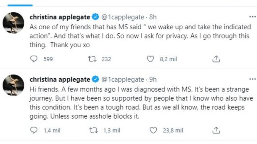 Christina Applegate esclerosis múltiple