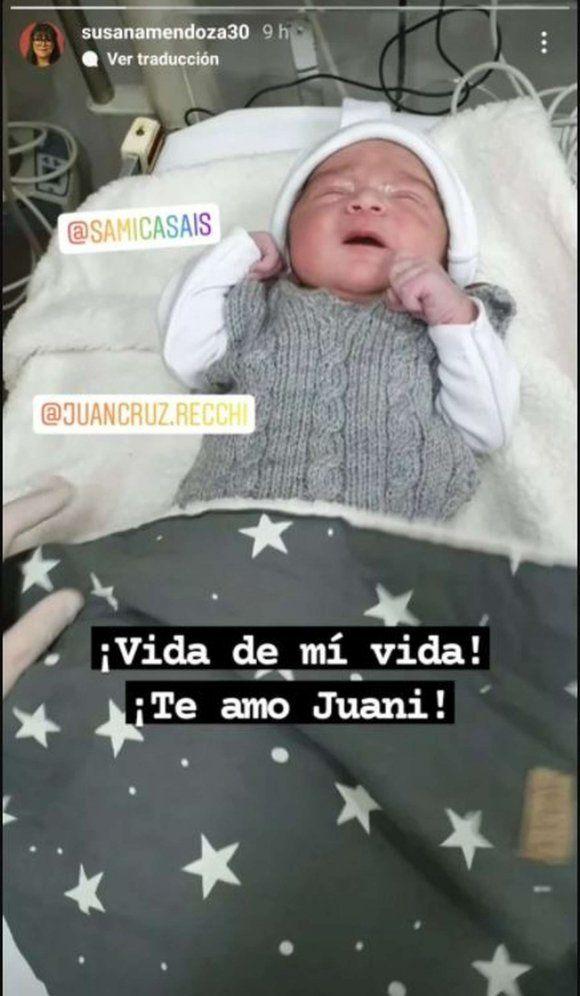 Samanta Casais fue mamá por primera vez: mirá la tierna foto de su bebé