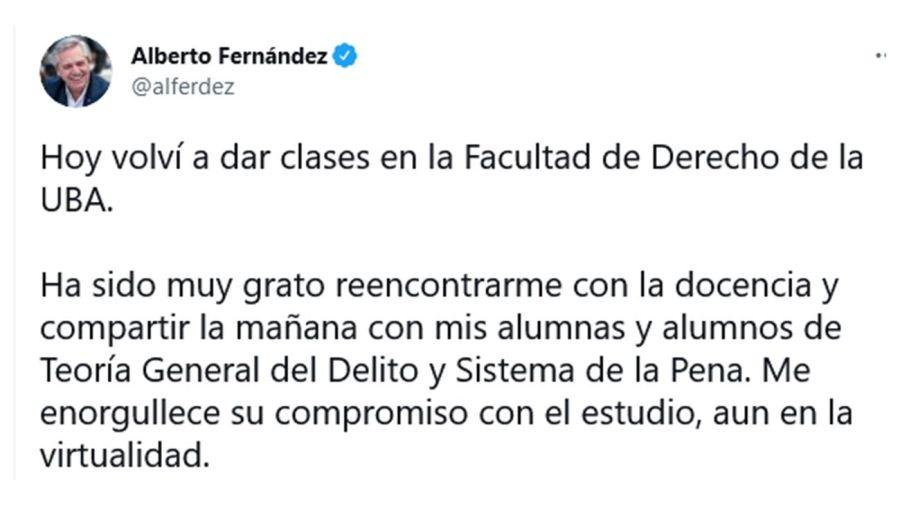 Alberto Fernández UBA 20210811