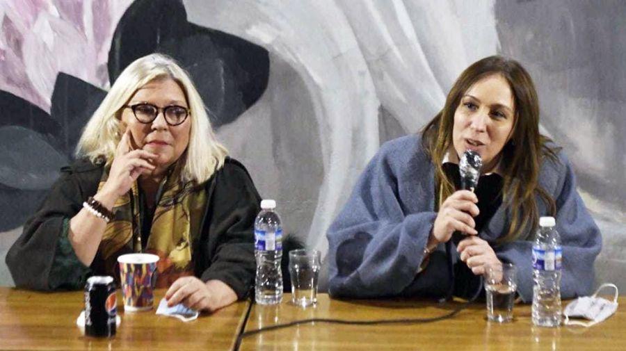Elisa Carrió con María Eugenia Vidal