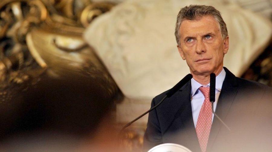 Macri durante el anuncio de su fideicomiso ciego 20210811