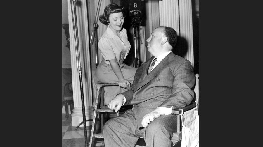 Pat Hitchcock y Alfred Hitchcock
