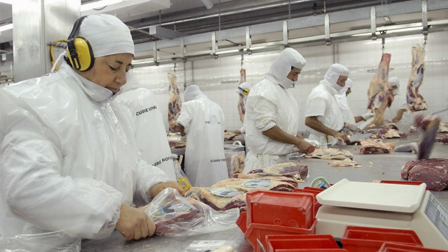 Trabajadores de la carne en frigoríficos