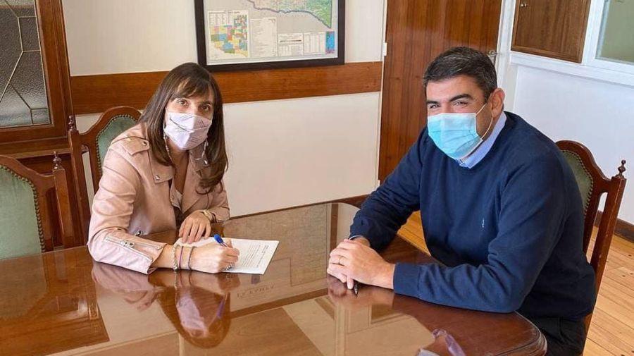 La fórmula del oficialismo: Pablo Daniel Bensusán y María Luz Alonso.