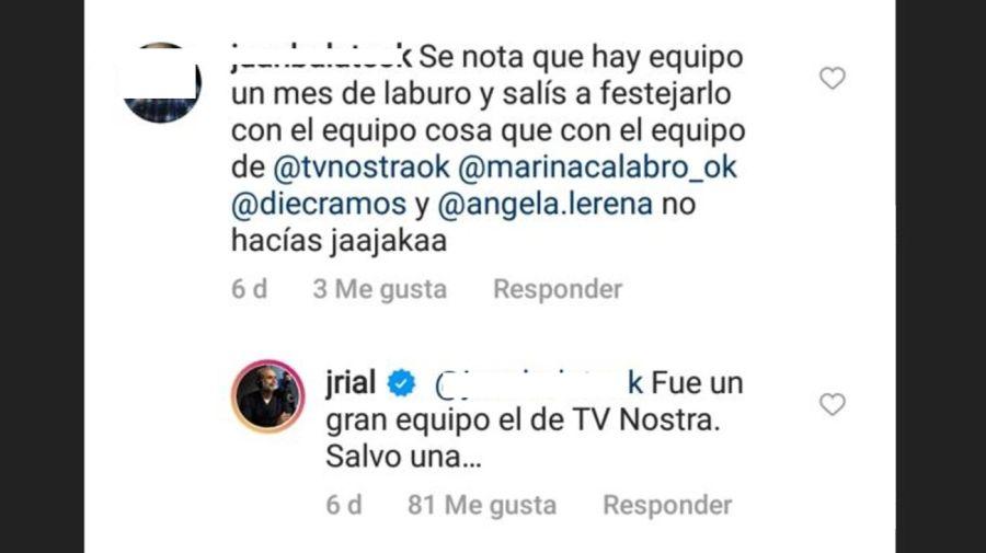 Jorge Rial contra Marina Calabro