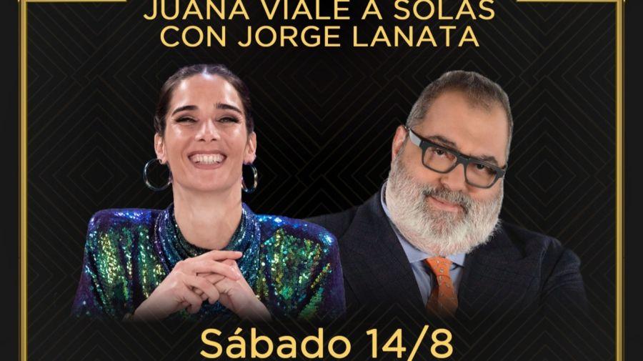 Juana Viale y Jorge Lanata
