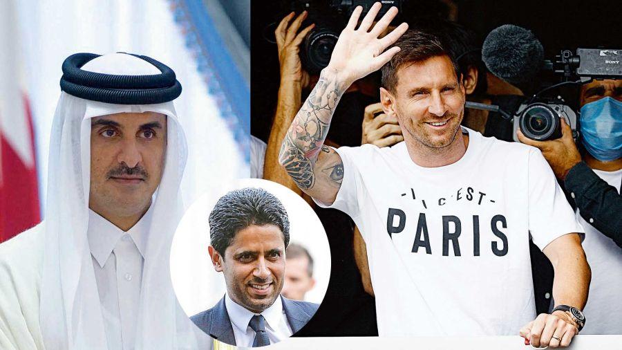 Tamin Bin Hamad Al Thani es el que manda en el PSG / El presidente del club es su amigo, Nasser Al-Khelaifi / Lionel Messi