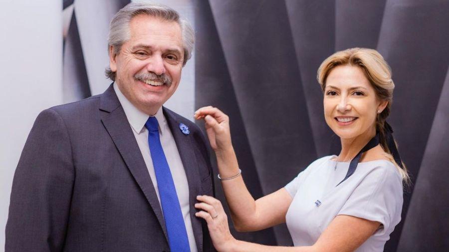 Alberto Fernandez y Fabiola Yañez