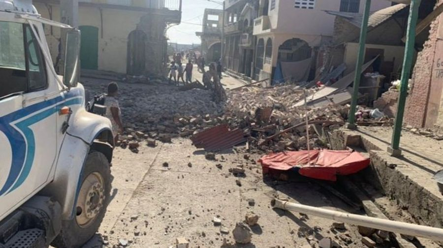 Daños provocados por el terremoto de este sábado 14 de agosto de 2021 en Haití.