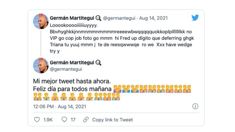La travesura de los hijos de Germán Martitegui en Twitter