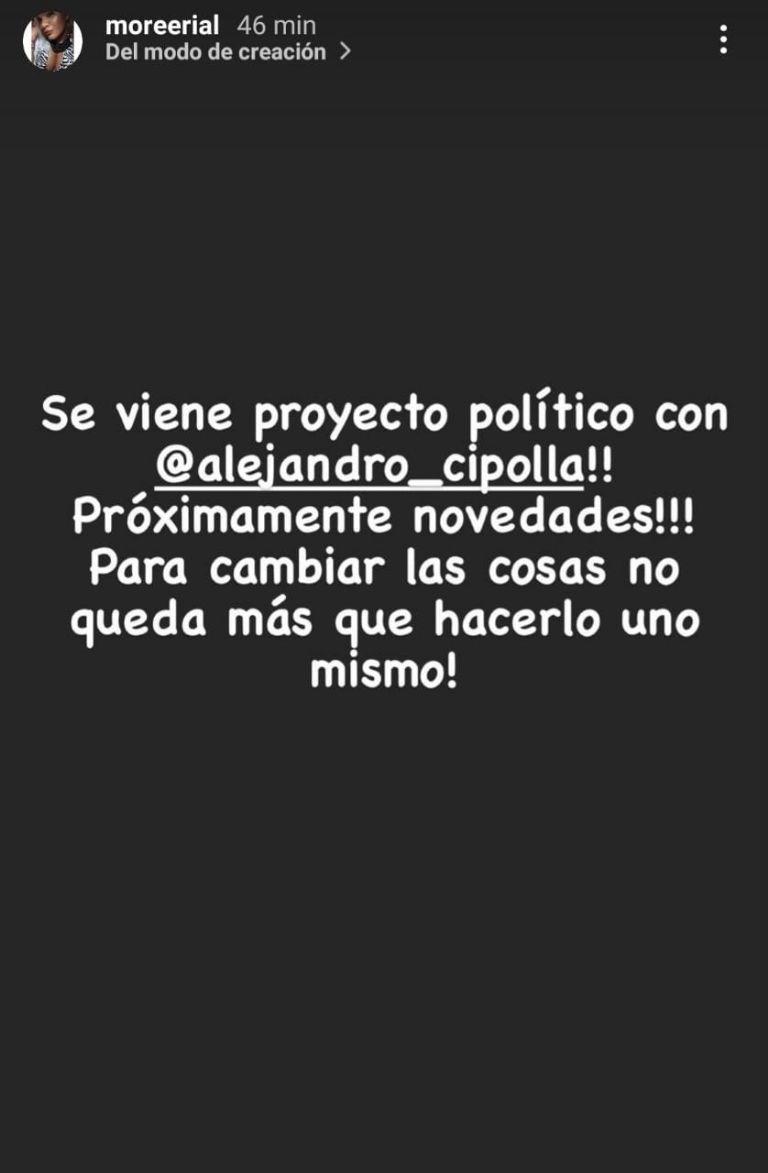 Morena Rial se lanzó como política: