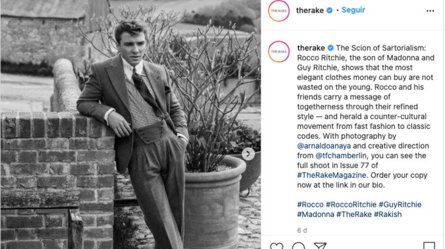 El hijo de Madonna y Guy Ritchie debutó como modelo